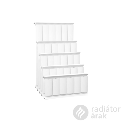 Romantik Plus fehér szinterezett aluminium radiátor 2000mm kötéstáv 1 tagos