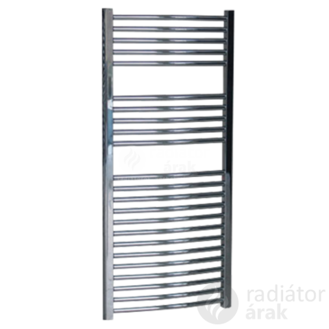 Sanica 400X1100 mm íves törölközőszárító radiátor króm