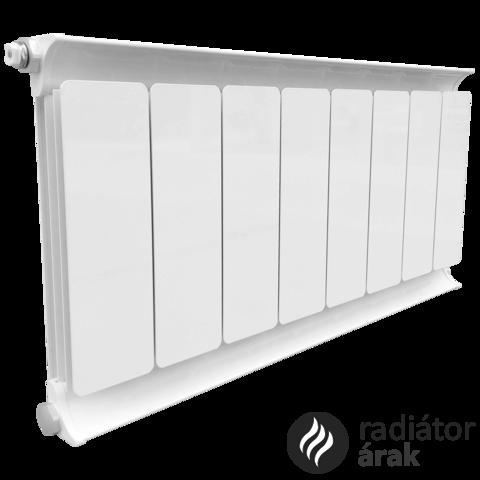 Romantik Classic fehér szinterezett aluminium radiátor 650mm kötéstáv 16 tagos